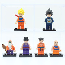 Kit 6 Bonecos Dragon Ball Z Goku Vegeta - Tipo Lego - Novo