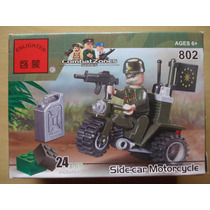 Miniatura Enlighten 802 Combatzones Exercito Moto