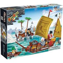 Bloco Brinquedos Montar Banbao Navio Harbor 502 Peças