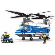 Helicóptero De Policia ( Compatível Com Lego )