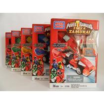 C806 - Mega Bloks Power Rangers - 5 Carros - 194 Peças