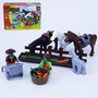 Bloco De Montar (89pcs) 18,5x13cm Farm Cavalo Compt. Lego