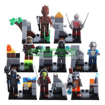 Action Figures Lego Os Guardiões Da Galáxia Kit 8 Minifigura