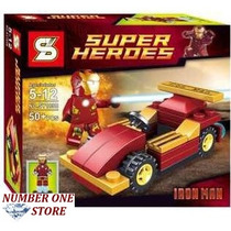 Lego Similar Super Heroes Homem De Ferro Com Carro 50 Pcs.
