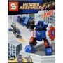 Brinquedo Similar Lego Marvel Avengers Arm. Capitão America