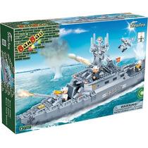Bloco Brinquedos Montar Banbao Navio De Guerra 458 Peças