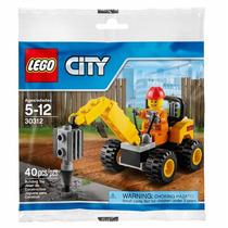 Lego City - 30312 Demolition Driller 40 Peças 1 Boneco Novo