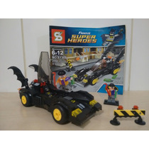 Super Heróis Batman Batmóvel 255 Peças. Bloco = Lego