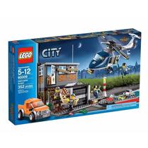 Lego City 60009 Resgate De Helicóptero Policia Prisao Novo