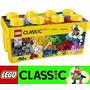 Balde Lego 10696- 484pçs+livro Sugestão+caixa Organizadora