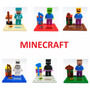 Kit Lego Minecraft - 6 Bonecos - Enderman, Steve, Skeleton