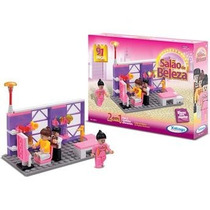 Brinquedo Blocos De Montar Salão De Beleza Para Meninas
