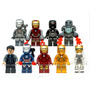 Kit 9 Bonecos Iron Man Marvel War Machine - Tipo Lego - Novo