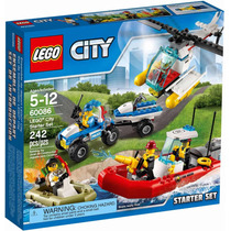 Lego City 60086 Starter Set Carro Barco E Helicoptero