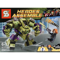 Brinquedo Similar Lego Marvel Avengers Armadura Hulk