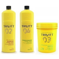 Trivitt Profissional Shampoo, Condicionador E Máscara 1000ml