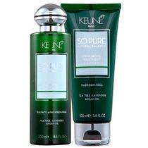 Kit Keune So Pure Exfoliating( Sh 250 Ml + Tratamento 100ml)