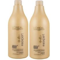 Shampoo 1,5l+condicionador 1,5loreal Absolut Repair Lipidium