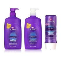Kit Aussie Moist Shampoo Cond 865ml 3 Minute - Frete Grátis
