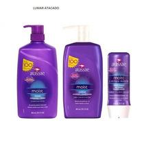 Kit Aussie Moist 865 Ml Shampoo+condicionador +máscara