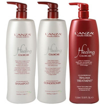 Lanza Colorcare 1l Shampoo + Cond. + Trauma Treatment 1000ml