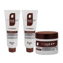 Kit Vitalcap Mandioca Shampoo, Cond E Mascara (belo Fio)