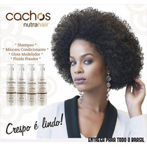 Kit Shampoo+mascara+fluido+gloss Modelador Cachos Nutrahair