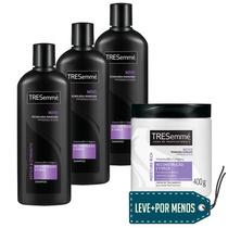 Tresemmé: 3 Shampoos 400ml + Creme De Tratamento 400g