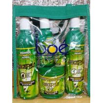 Kit Crece Pelo Boé 5 Itens+ Bolsa -shamp+cond+leav+masc+ampo