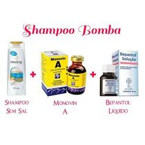 Shampoo Bomba Shampoo 200ml Pantene Com Monovin A E Bepantol