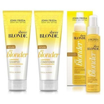 Kit Clareador Joh Frieda Spray Shampoo Codicionador Go Blond