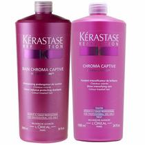 Kérastase Kit Shampoo E Condicionador Chroma Captive 1l
