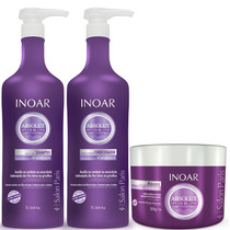 Kit Inoar Absolut Speed Blond Desamarelador ( 3 Produtos )
