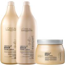 Shampoo Loreal 1,5 L Condicionador 1,5 L E Mascara 500 G Kit