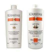 Kit Kerastase Shampoo 1 Litro + Condicionador 1 Litro