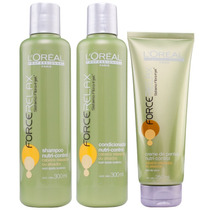 Loreal Profissional Nutri Control Force Relax Kit Trio
