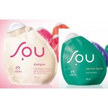 Kit Natura Sou Shampoo Hidratação + Sabonete Líquido