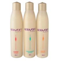 Itallian Hair Tech Kerasoft Kit Manutenção - 3 X 300ml
