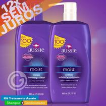 Kit Aussie Moist Shampoo + Condicionador - 865ml - Original