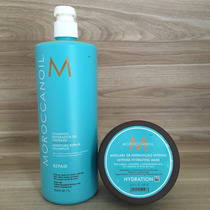 Moroccanoil - Kit Shampoo Repair 1l + Mascara Hidrat. 500ml
