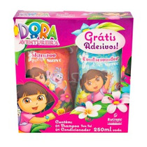 Kit Shampoo S/sal+condicionador Dora + Adesivos