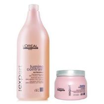 Kit Loréal Lumino Contrast Shampoo 1500ml + Máscara 500 G