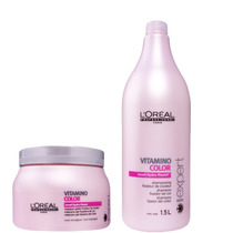 Kit Loreal Vitamino Color Shampoo 1500 Ml + Máscara 500 Gr