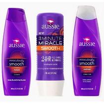 Kit Aussie Smooth Shampoo +condicionador +3 Minute Miracle