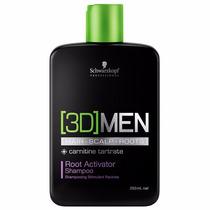 Shampoo Schwarzkopf 3d Men Root Activator 250ml Anti Queda
