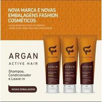 Kit Manutenção Argan Active Hair 3 Passos, 3 Produtos