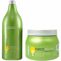 Shampoo Loreal Force Relax 1500ml + Máscara Force Relax 500g