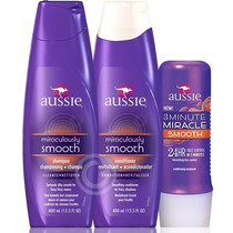 Kit Aussie Smooth Shampoo Condicionador + 3 Minute Miracle!
