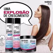 Kit Shampoo Bomba + Condicionador + Máscara Salon Line Bomba