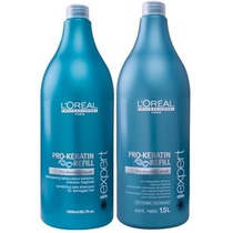 Kit Loreal Pro-keratin Shampoo + Condicionador 1,5l